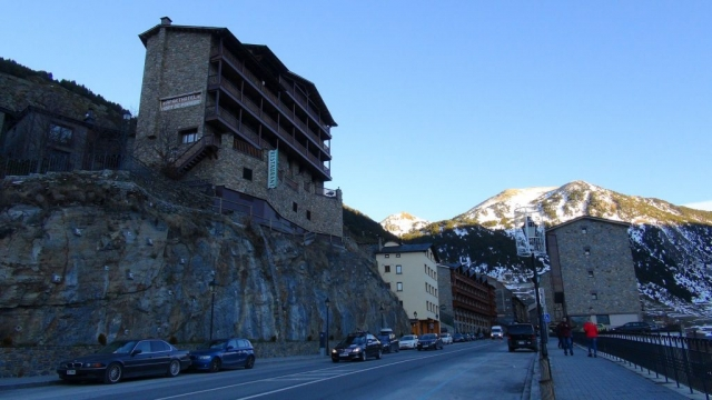 Merlot, Restaurant, Hort De Popaire, Aparthotel, main street, Soldeu, Andorra, Pyrenees, Mountains