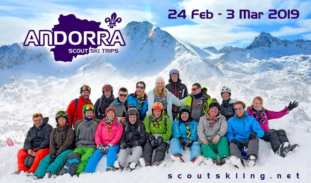 Andorra Scout Ski Trip 2016 group
